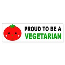 Proud To Be A Vegetarian Bumper Car Sticker