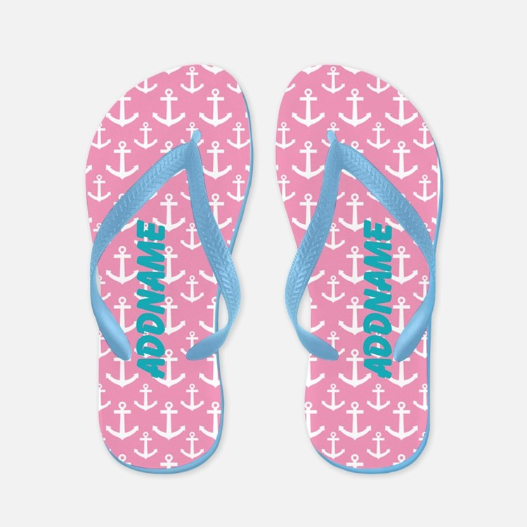 Pink Anchor Custom Flip Flops