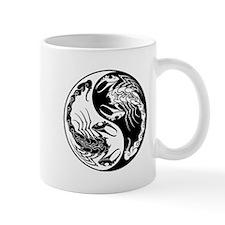 White and Black Yin Yang Scorpions Mugs