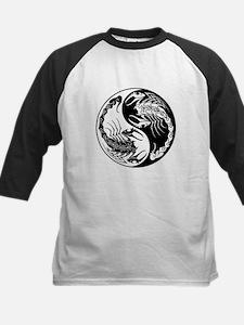 White and Black Yin Yang Scorpions Baseball Jersey