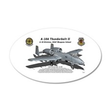 A-10 Warthog with shadow Wall Decal