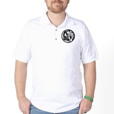 Black and White Yin Yang Koi Fish T-Shirt