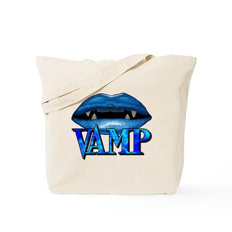 Vamp Lips Blue Tote Bag
