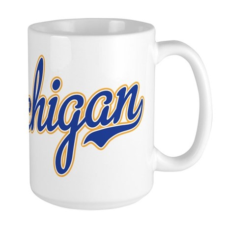 Michigan Script Font Mugs