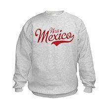 New Mexico Script Font Crimson Sweatshirt
