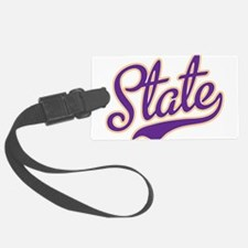 State Script Font Luggage Tag