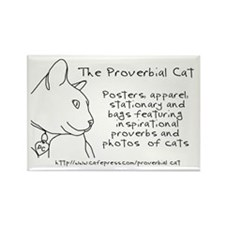 Proverbial Cat Rectangle Magnet