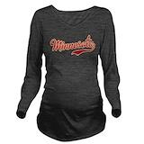 Minnesota gopher Dark Long Sleeve Maternity T-Shirt