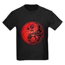 Red and Black Yin Yang Roses T-Shirt