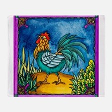 Rooster 2 Throw Blanket