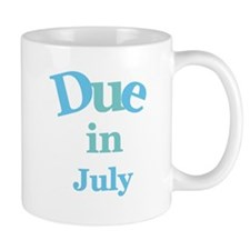 Blue Due in July Mug