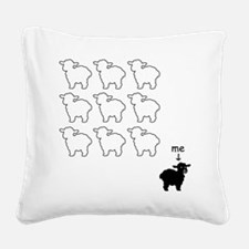 Black Sheep Square Canvas Pillow