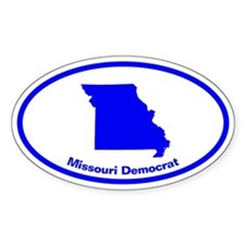 Missouri BLUE STATE Oval Decal