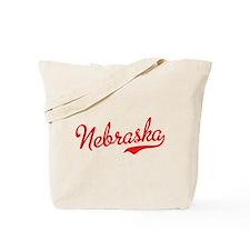 Nebraska Script Font Tote Bag