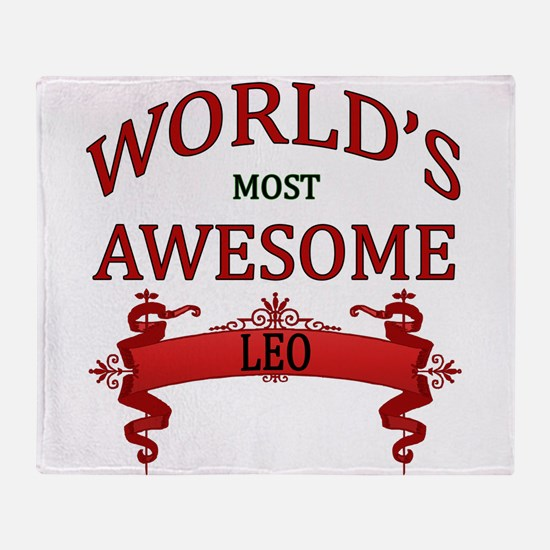World's Most Awesome Leo Throw Blanket