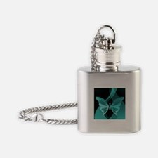 Contemporary Turquoise Butterfly Flask Necklace