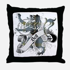 Bell Tartan Lion Throw Pillow