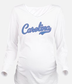 Carolina Blue Long Sleeve Maternity T-Shirt