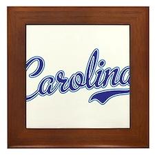 Carolina Blue Framed Tile