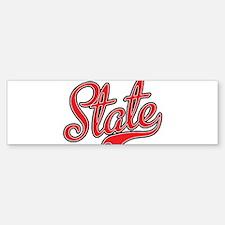 State Bumper Bumper Bumper Sticker