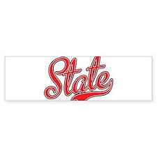 State Bumper Bumper Sticker