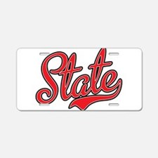 State Aluminum License Plate