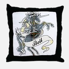 Bell Tartan Unicorn Throw Pillow