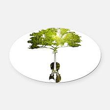 Violin tree Oval Car Magnet