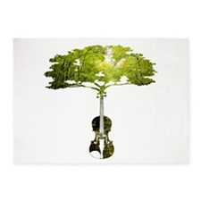 Violin tree 5'x7'Area Rug