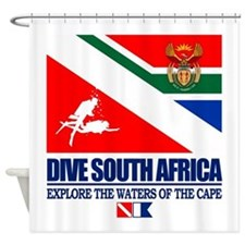 Dive South Africa Shower Curtain
