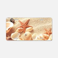 Seashells Aluminum License Plate