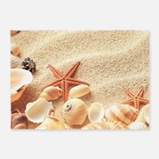 Seashells 5'x7'Area Rug