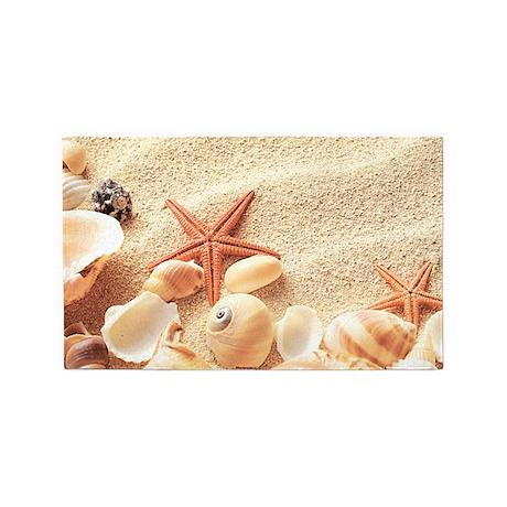 Seashells 3u0027x5u0027 Area Rug