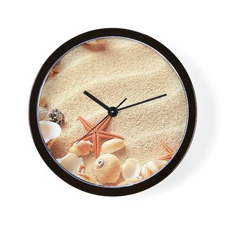Seashells wall clock by bestgear for Seashell wall clock