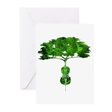 Cello tree-2 Greeting Cards