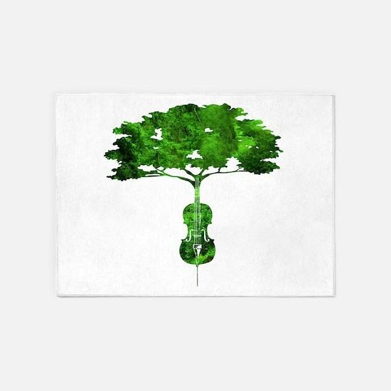 Cello tree-2 5'x7'Area Rug