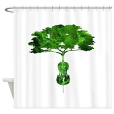 Cello tree-2 Shower Curtain