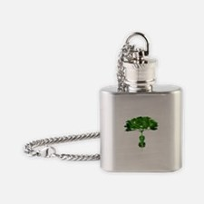 Cello tree-2 Flask Necklace