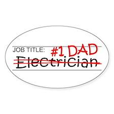 Job Dad Electrician Decal