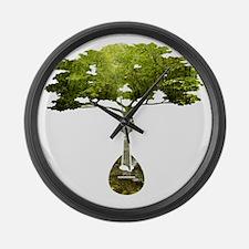 Mandolin Tree Large Wall Clock
