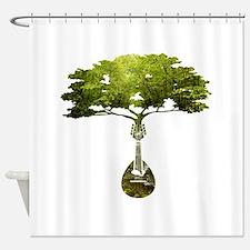 Mandolin Tree Shower Curtain