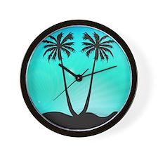Stunning Palm Trees Wall Clock
