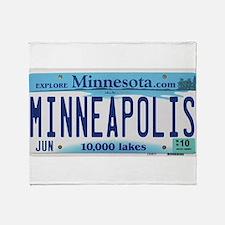 Minneapolis License Throw Blanket