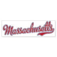 Massachusetts Script Font Bumper Bumper Sticker