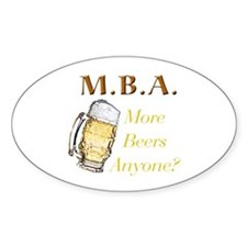 MBA Beers Oval Decal