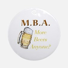 MBA Beers Ornament (Round)