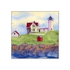 "Nubble Lighthouse Square Sticker 3"" x 3"""
