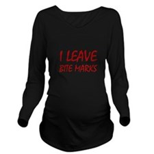 Bite Marks Long Sleeve Maternity T-Shirt