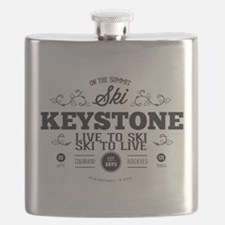 Keystone Old Ivy Black Flask