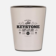 Keystone Old Ivy Black Shot Glass